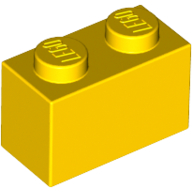 [New] Brick 1 x 2, Yellow. /Lego. Parts. 3004